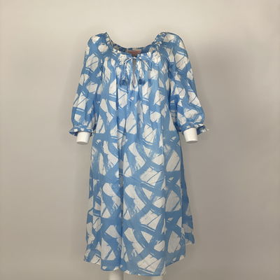 VINTAGE PRAIRIE DRESS BLUE BRUSH