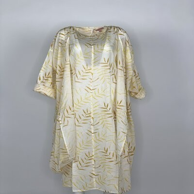 Printed 2 Piece with Sleeves Yellow Fern