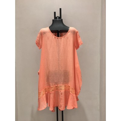 LINEN COVER UP CORAL